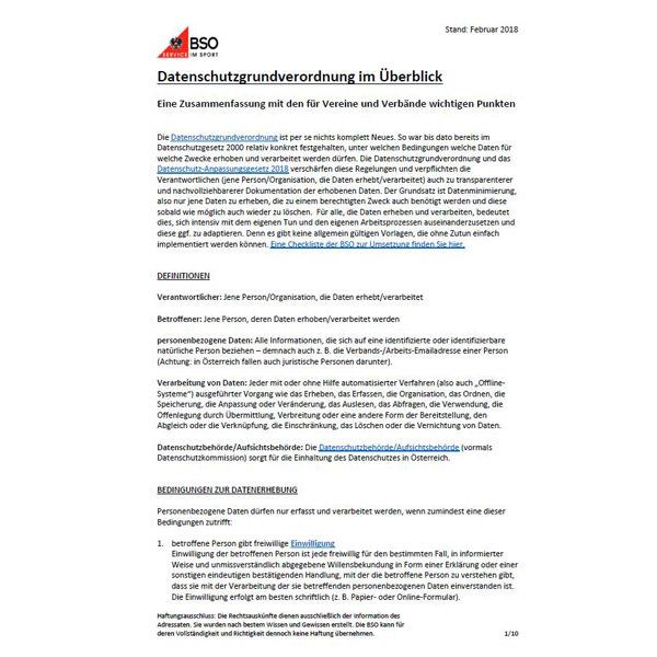 Infos Zur Datenschutzgrundverordnung