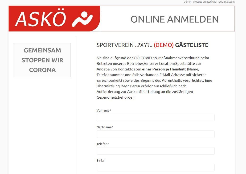 ASKÖ präsentiert: Digitale Besucherlisten für Sportvereine